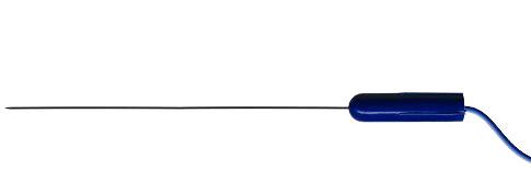 Jednorázová monopolarární oddělitelná jehlová elektroda Technomed - 25 ks:  0,45mm x 75mm modrá