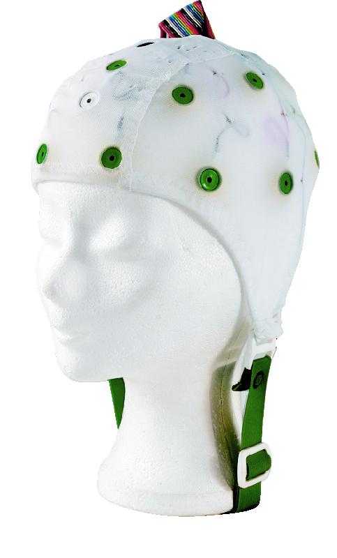 EEG čepice - bílá barva látky  bez prostupu na uši: XS (47 – 51 cm) - DOPRODEJ
