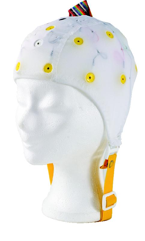 EEG čepice - bílá barva látky  bez prostupu na uši: S (51 – 55 cm)