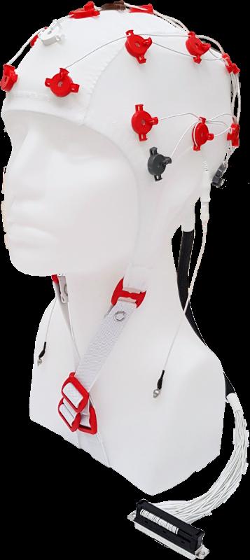 EEG čepice FlexiCAP 19+6 kanálů - nový IFCN standard: M (55 – 59 cm), červená, NEOBSAHUJE KABEL PRO PŘIPOJENÍ 45-893