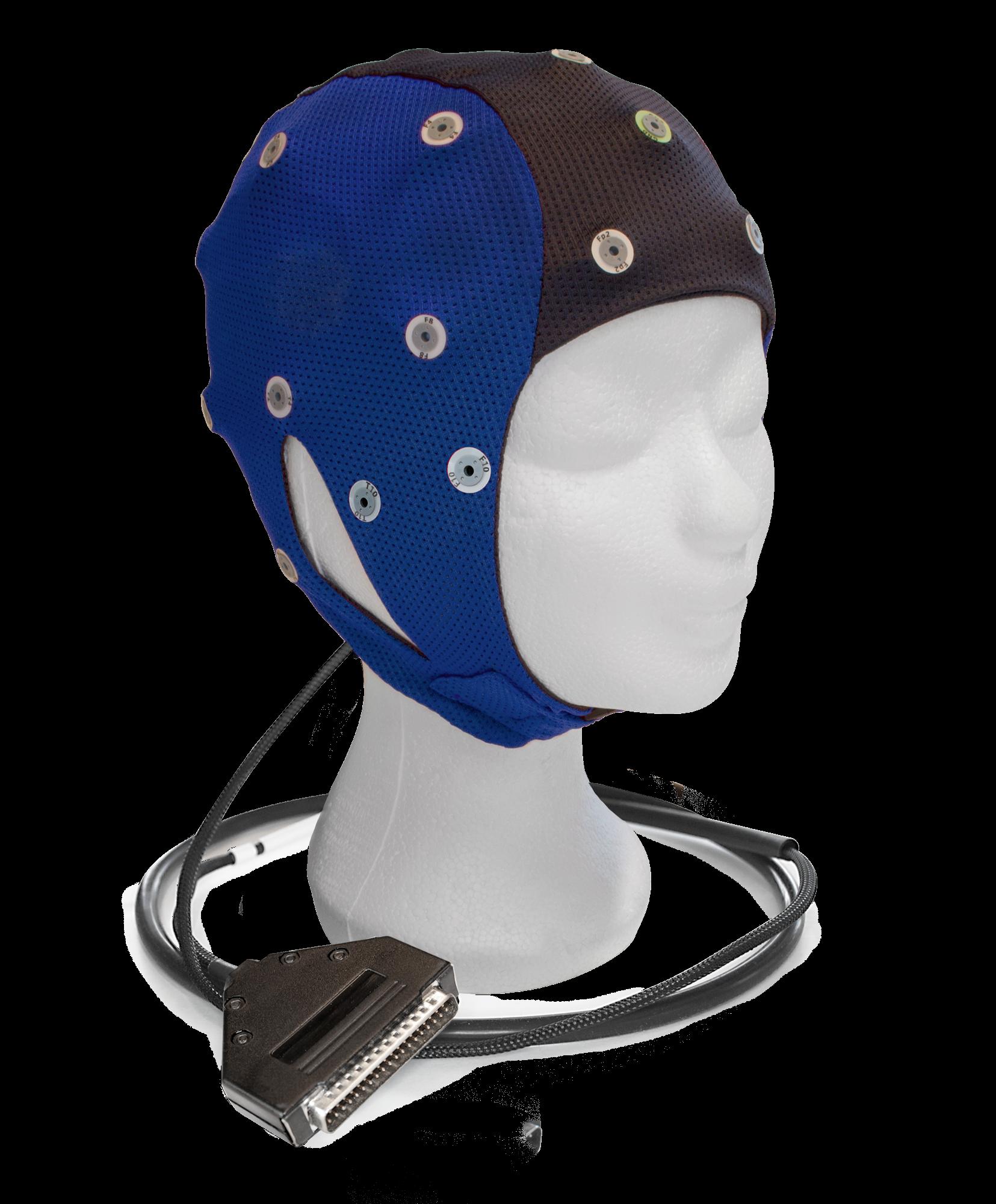 EEG čepice ANT-Neuro IFCN waveguard™ connect: L (56 – 61 cm, Modročerná)