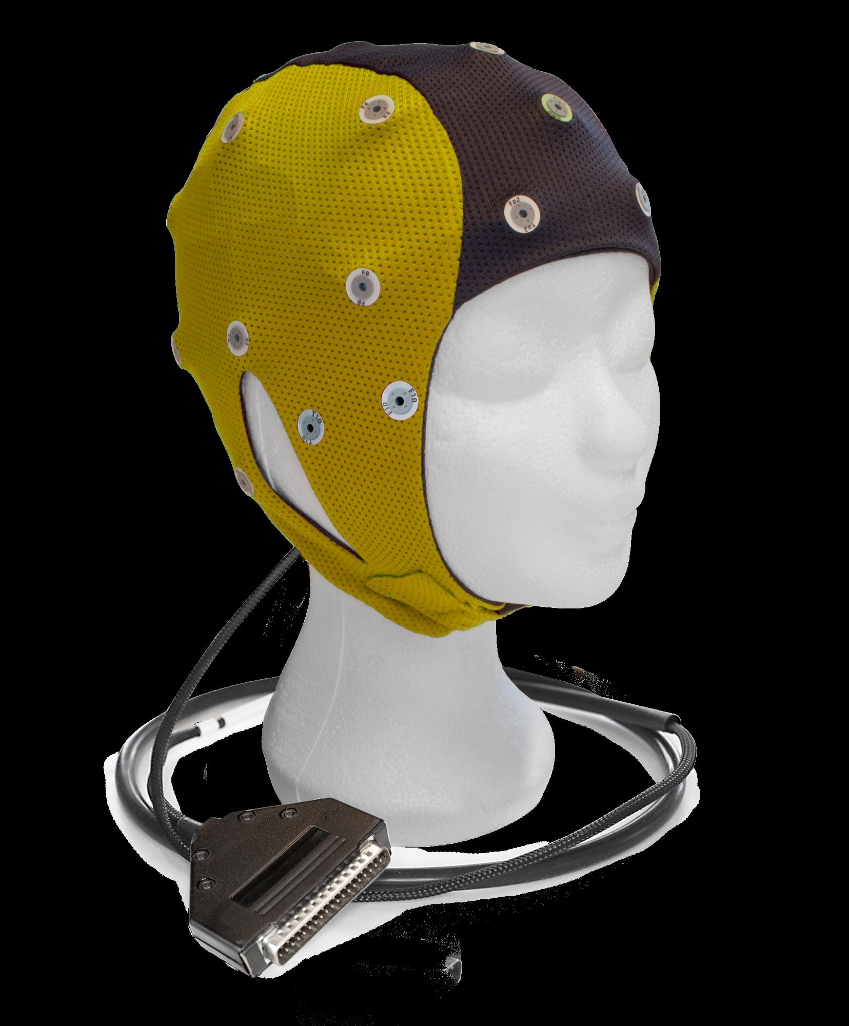 EEG čepice ANT-Neuro IFCN waveguard™ connect: S (47 – 51 cm, Žlutočerná)