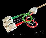 Kabel pro připojení nalepovacích elektrod - 3x klips