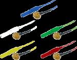 Kalíšková elektroda 9mm Au (zlacená): mix 10ks