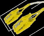 Pár ušních elektrod Sn (cín), plastový klips: žlutá