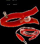 EKG elektroda plastový skřipec Sn (cín): červená