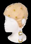 EEG čepice - béžová barva látky s prostupem na uši: S (51 – 55 cm, žlutá)