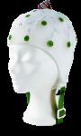 EEG čepice - bílá barva látky  bez prostupu na uši: XS (47 – 51 cm)