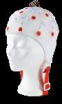 EEG čepice - bílá barva látky  bez prostupu na uši